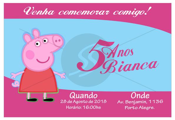 convites de aniversario da peppa pig - Convite de Aniversário Infantil Peppa Pig