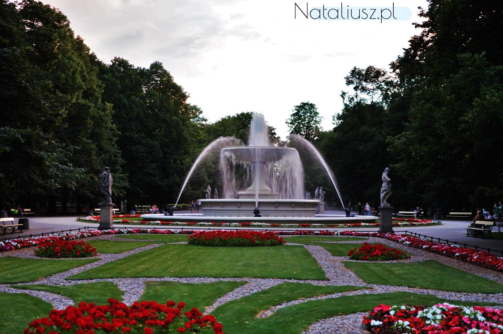 ogród saski fontanny
