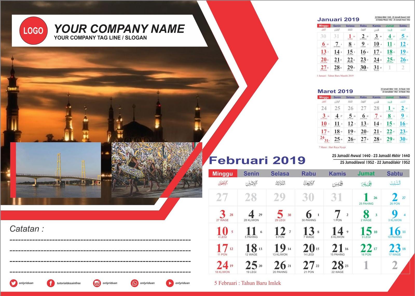 44+ Desain Kalender 2020 Corel