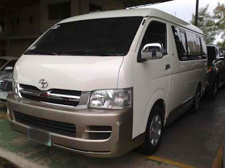 Toyota Grandia Commuter Van For Rent in Cebu (Cebu Rent A Van)