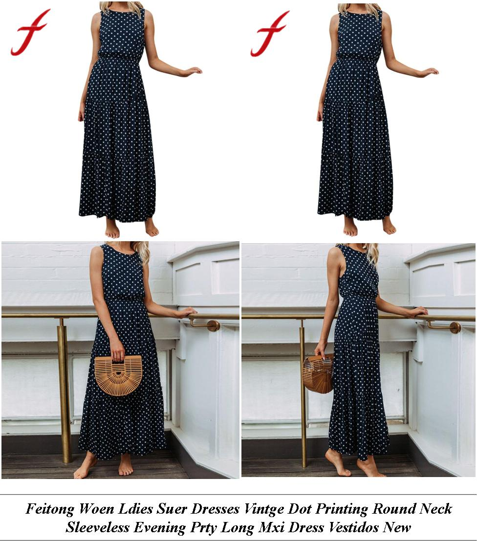 Long Dresses - Womens Clothes Sale Uk - Midi Dress - Cheap Name Brand Clothes