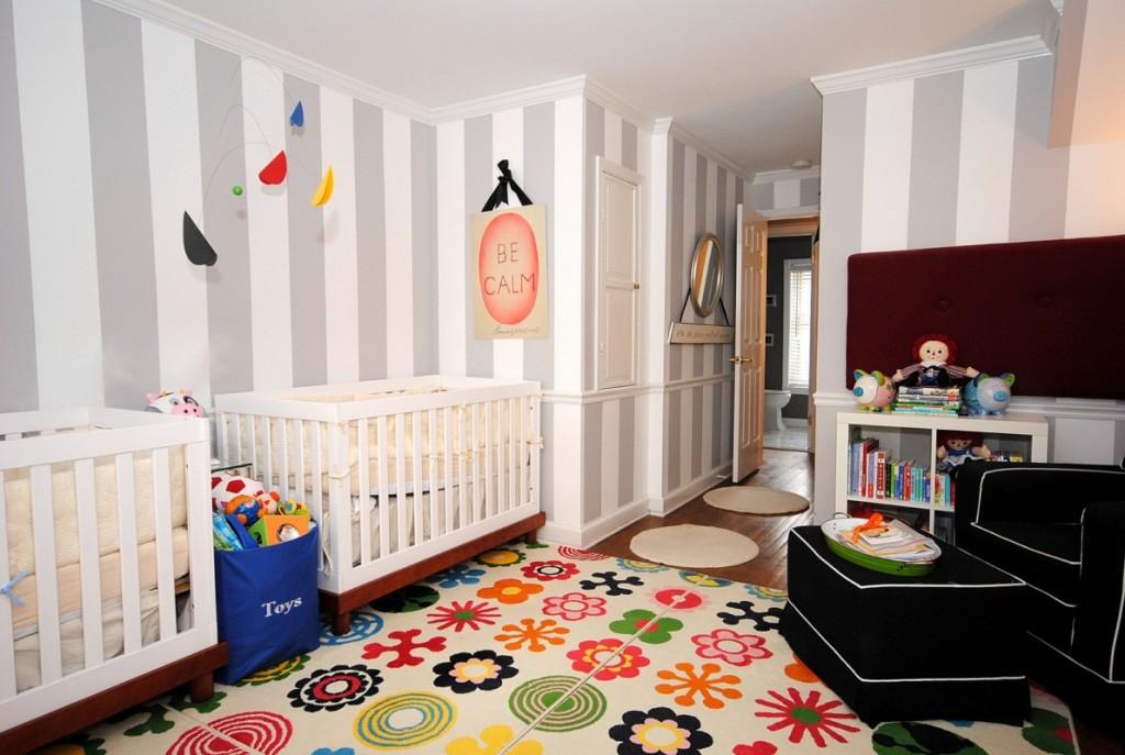 Couleur Peinture Volets Bois : Idée déco chambre bébé jumeaux  Bébé et décoration  Chambre