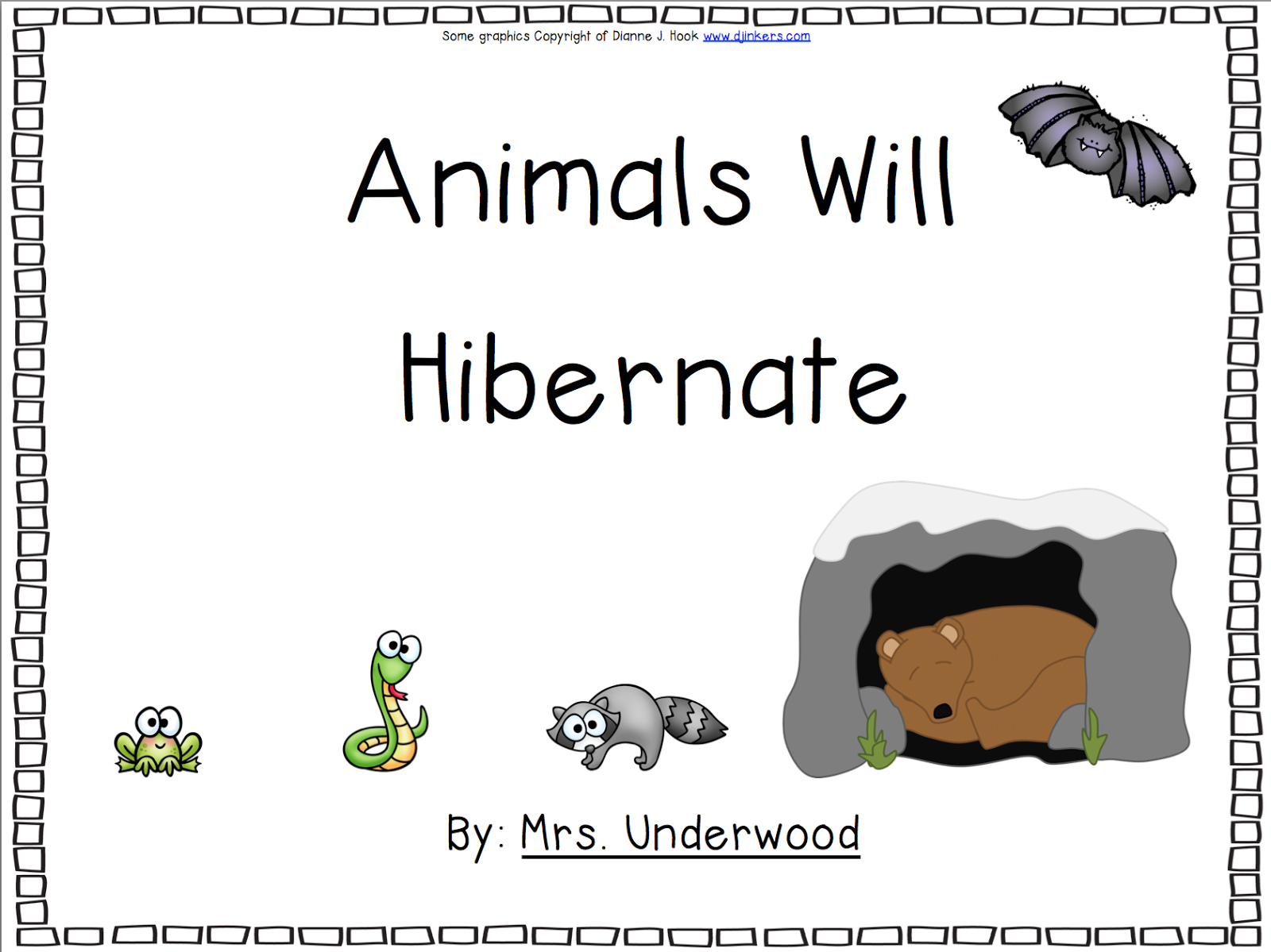 Oceans Of Kindergarten Fun Hibernation Books Past And