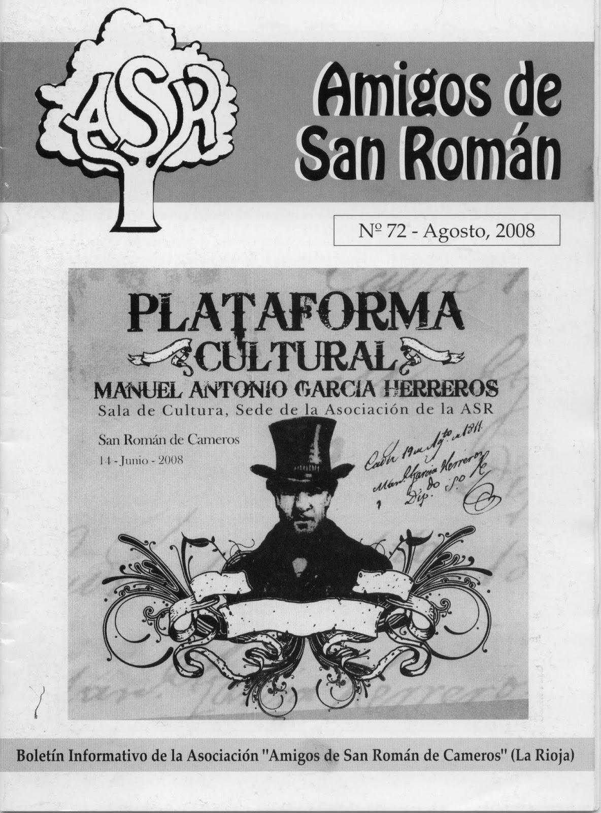 """Boletín Informativo de la """"Asociación Cultural Amigos de San Román de Cameros""""."""