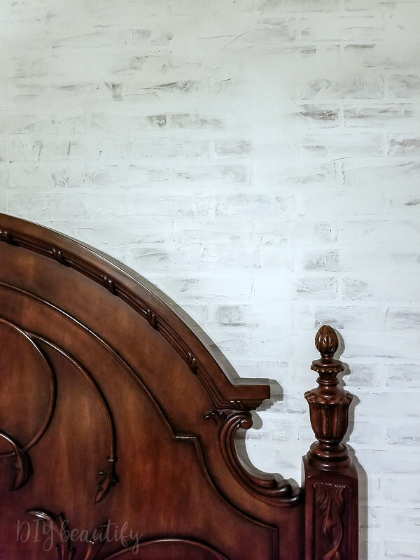 European-inspired German schmear faux brick wall