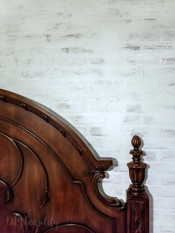 European-inspired German schmear faux brick wall
