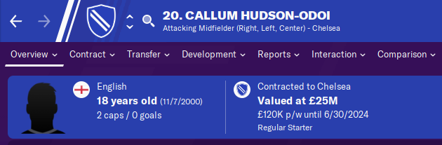 FM20 Wonderkid Analysis - Callum Hudson-Odoi
