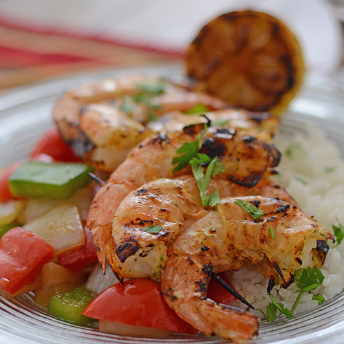 Grilled Thai shrimp, Big Green Egg seafood recipe, grill dome seafood recipe, kamado grill seafood recipe, grilled shrimp