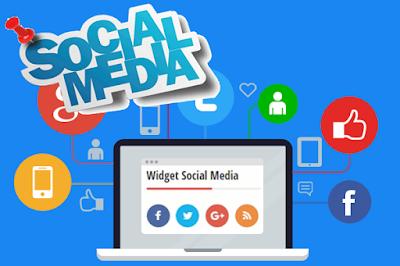 Cara Membuat Widget Social Media Button Efek Berputar