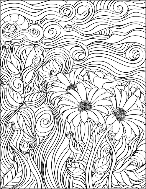 LostBumblebee ©2018 MDBN GROWN UP COLOURING,  COLOURING PAGE, COLORING PAGE, Free for personal use only, www.lostbumblebee.com, 8.5x11 print size