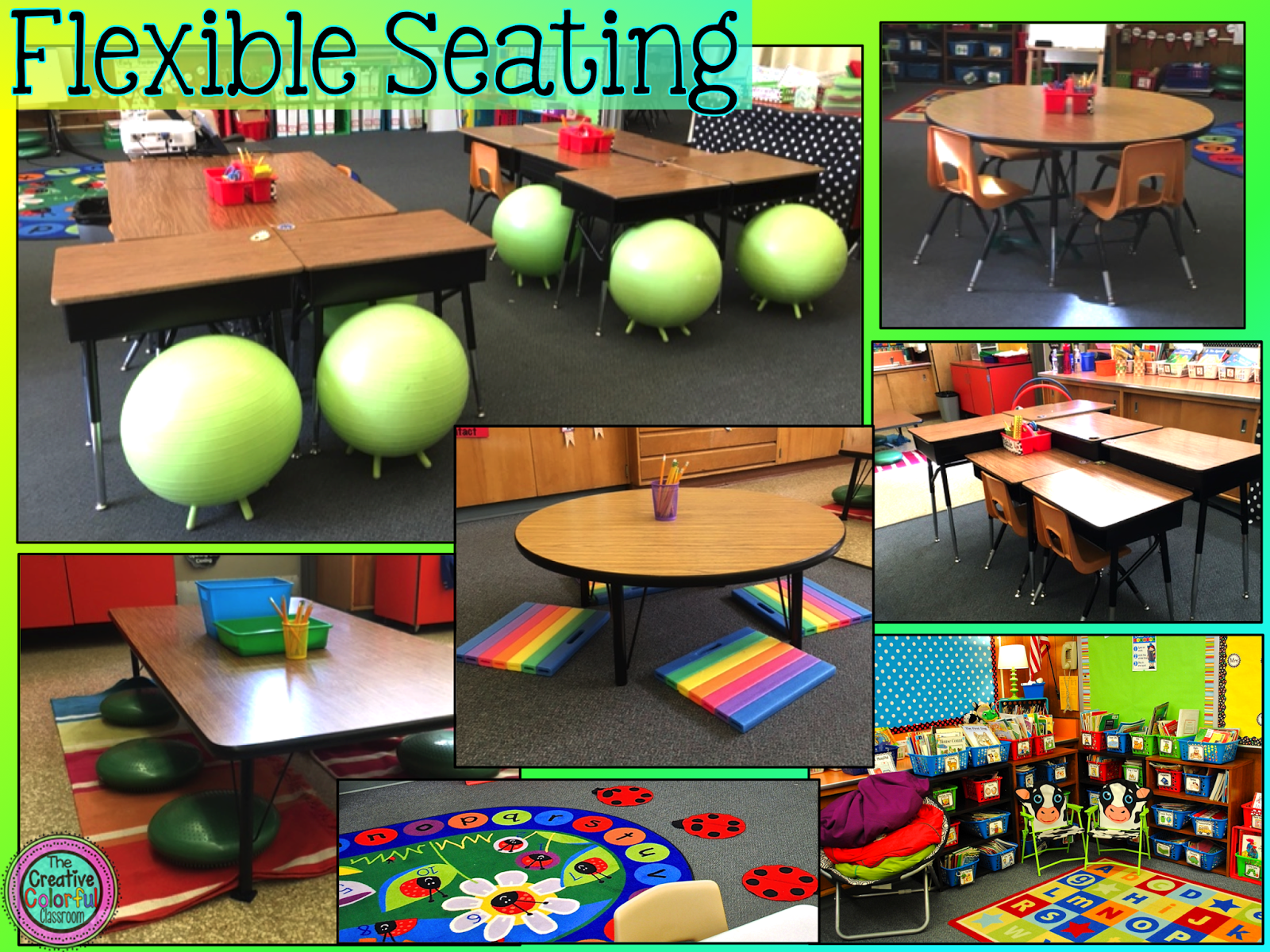 Ideas In Classroom ~ The creative colorful classroom flexible seating