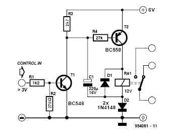 Relay Step-Up Circuit Diagram