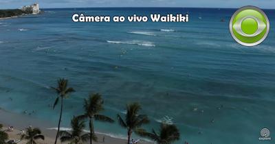 surfistas ao vivo da praia de waikiki