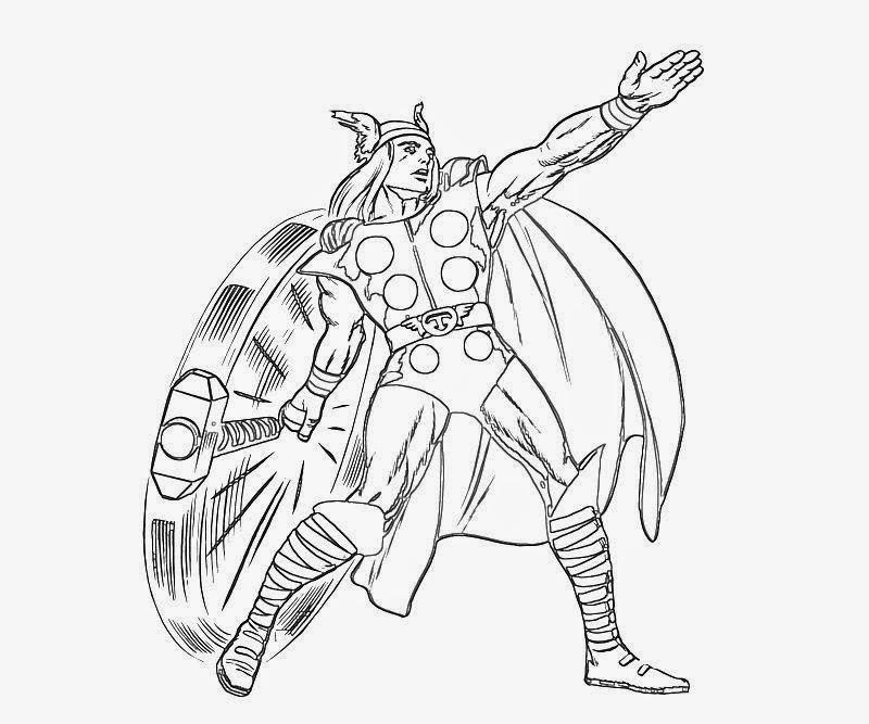 Desenhos Do Thor Para Colorir E Imprimir Desenhos Para Colorir E