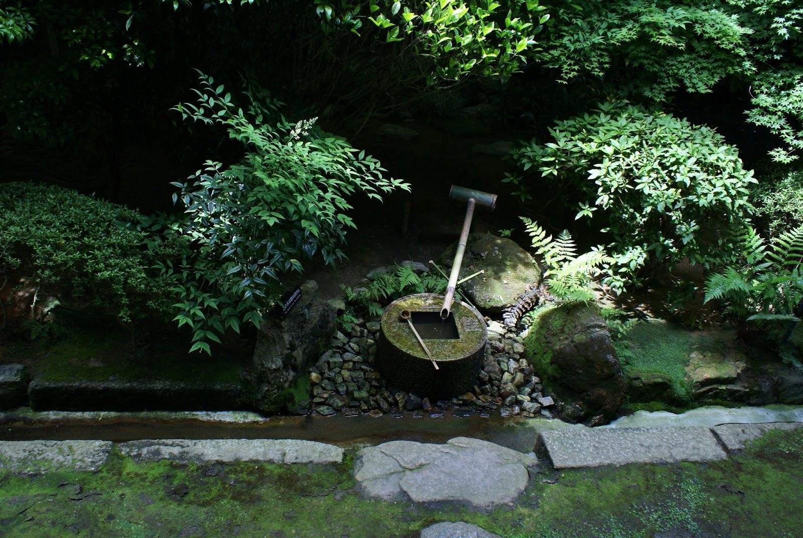 ryoan ji buddhist temple stone basin garden kyoto kansai japan