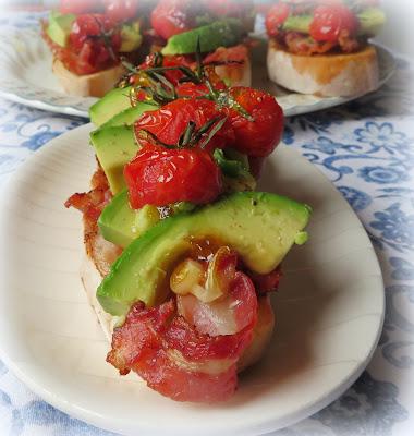 Tomato, Avocado & Pancetta on Toast