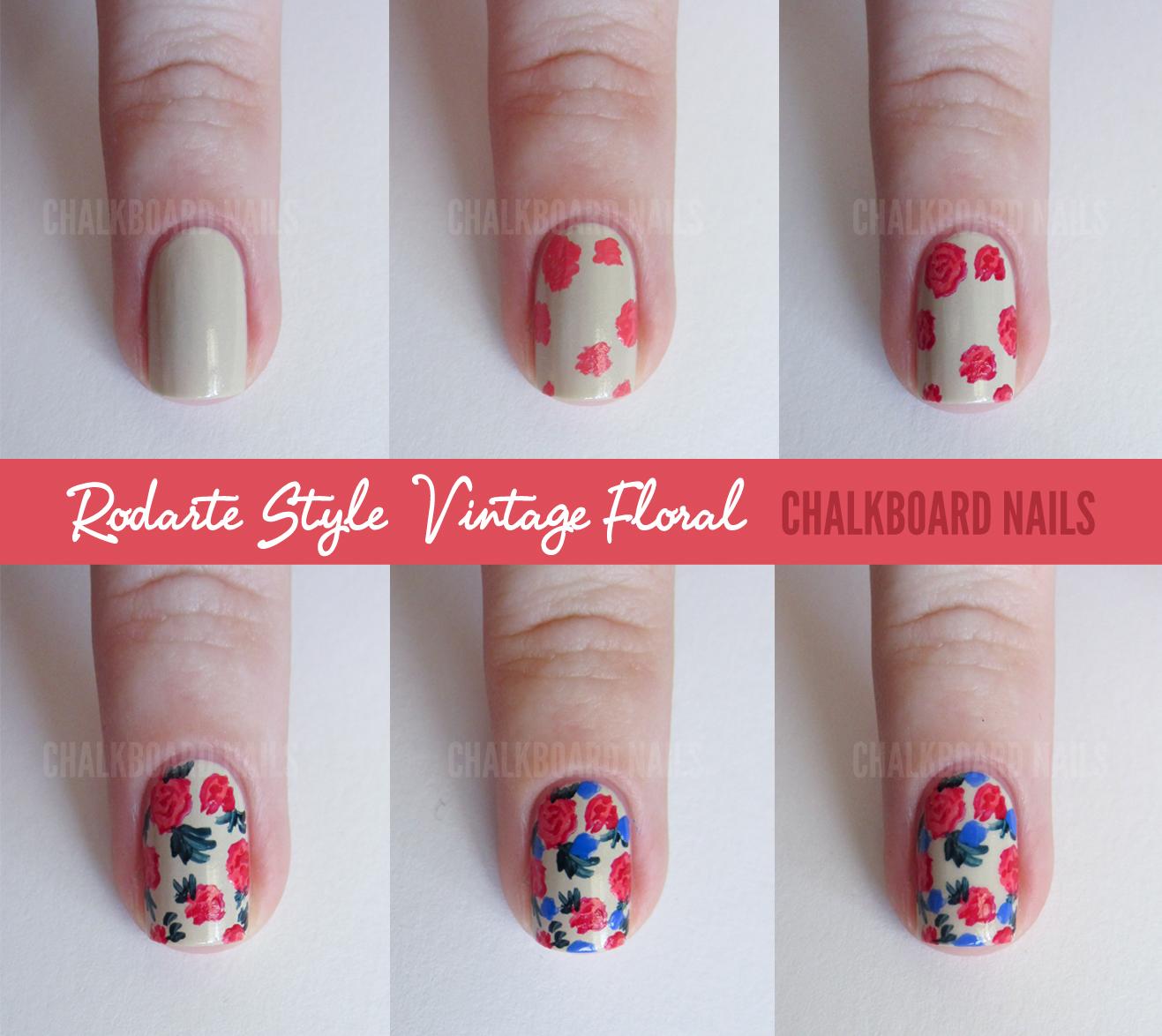 Another Flower Nail Tutorial: Sally Hansen X Rodarte Tie Dye And Floral Mix (+ Tutorial