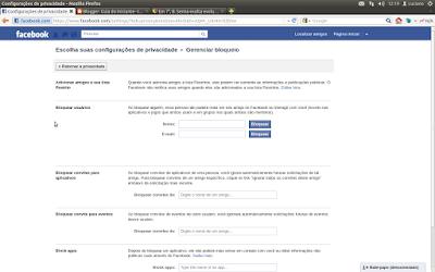 bloquear alguém facebook