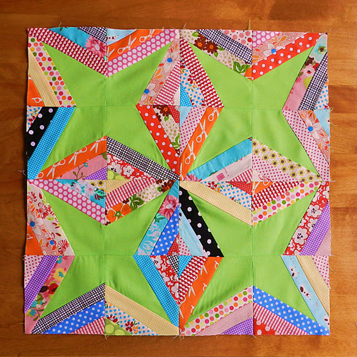 String Star Quilt Block Free Tutorial