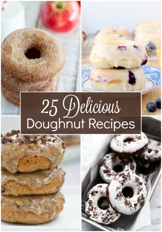 25 DELICIOUS Doughnut Recipes, How to make donuts, homemade doughnuts, homemade donuts, easy donut recipes