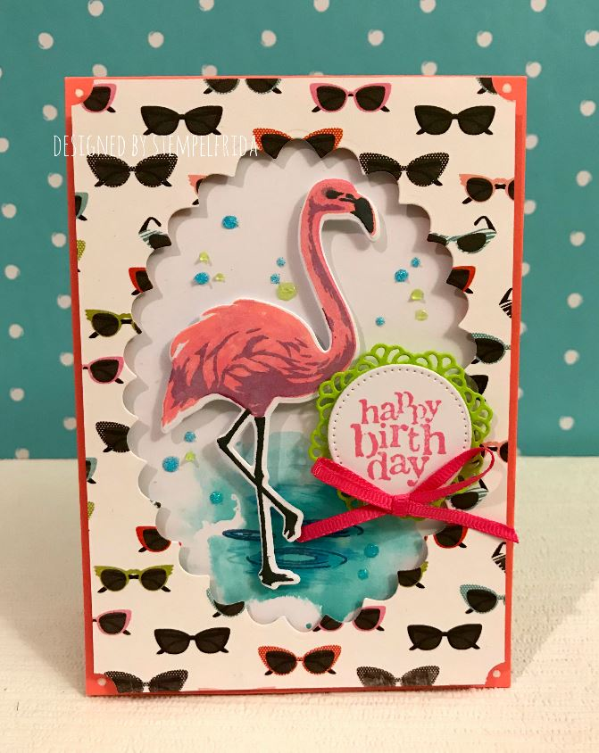 Flamingo great for Cards or Crafts Xcut Mini Dies