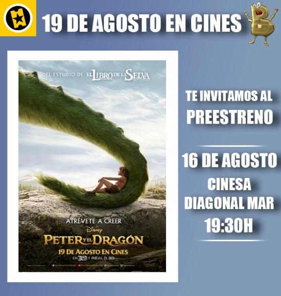 PETER Y EL DRAGON: SORTEAMOS 2 ENTRADAS DOBLES PARA EL PREESTRENO EN BARCELONA