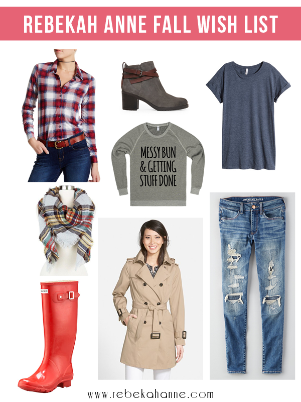 Fall weather is here and I'm ready to break out all the fall fashion staples. From plaid blanket scarves to Hunter Wellies it's about to get so cozy in my wardrobe! Click through to see what else is on my must-have list!