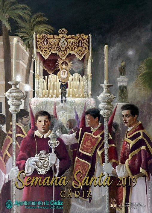 Cartel anunciador de la Semana Santa de Cádiz 2019