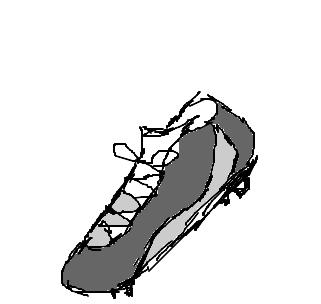 Chuteira Para Jogar Futebol Desenhos Preto E Branco Para Colorir
