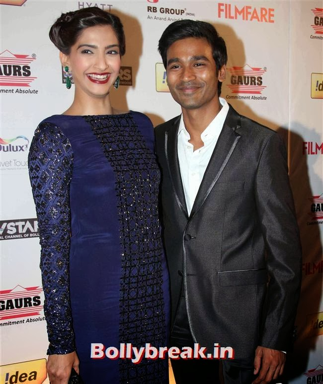 Sonam Kapoor and Dhanush, Bollywood A-List Actresses at 59th Filmfare Pre Awards Party