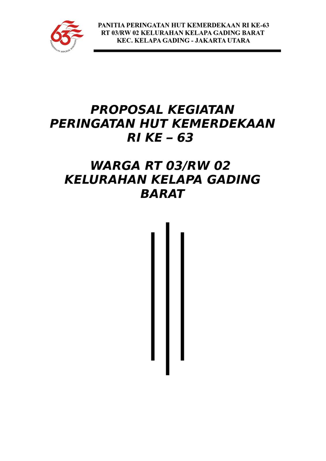 Kukuh Nur Faizal Contoh Proposal Pengajuan Kegiatan Hut Ri