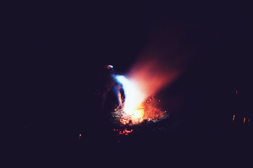 Fotografia nocna, 4 30sekundowe klatki - wspomnienie ogniska.