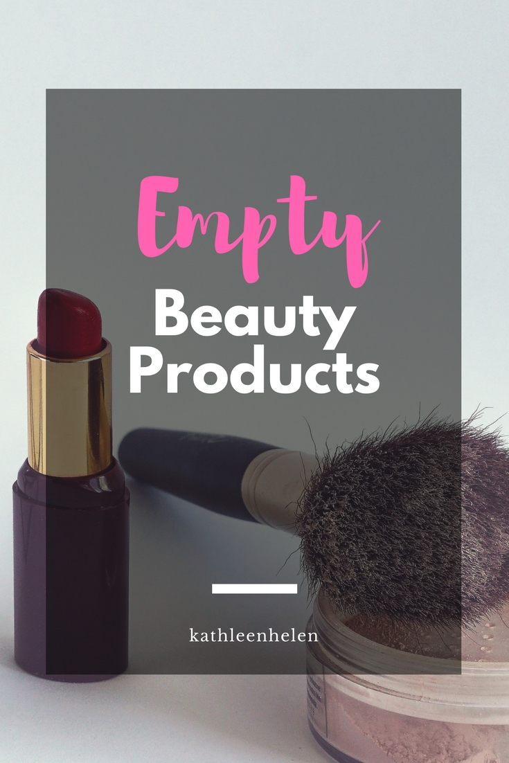 Empty Beauty Products (7) - Where I share my most recently used products and what I thought about them | kathleenhelen