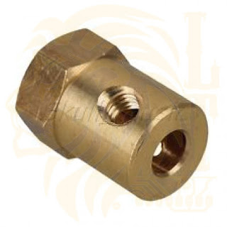 5mm Shaft Brass Coupler with 12mm Hex connector end