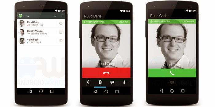 نسخة جديدة لتطبيق الواتساب تحتوي على خاصية المكالمات الصوتية