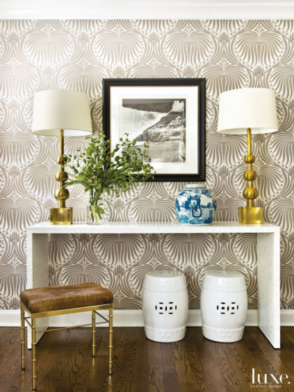 Foyer Wallpaper Designs : Chinoiserie chic the entryway