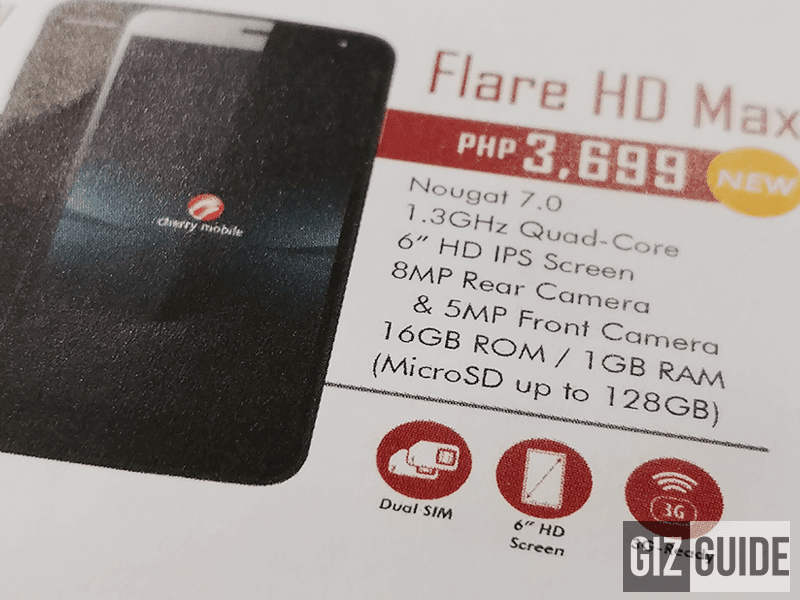 Cherry Mobile Flare HD Max With 6 Inch Screen Spotted