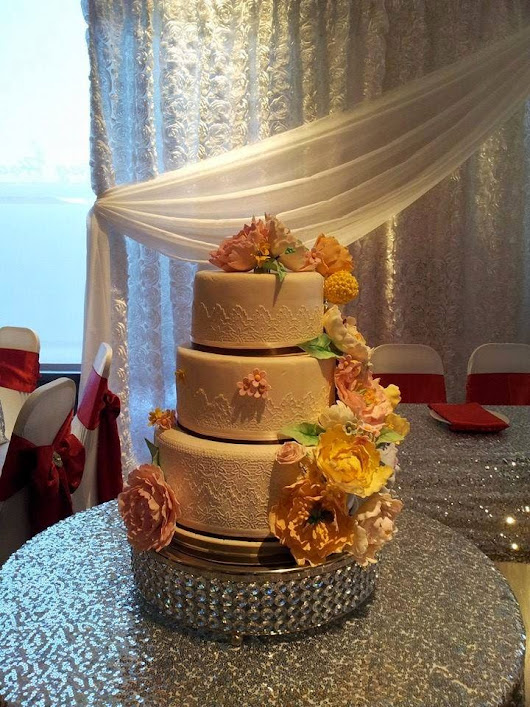 katnaper's den: Cake Files: A Very Flowery Wedding Cake