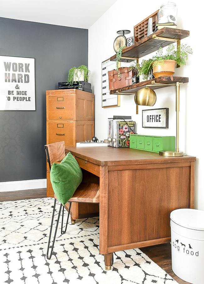Mid century modern office desk