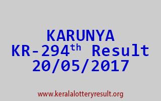 KARUNYA Lottery KR 294 Results 20-5-2017