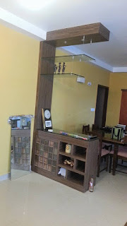 Partition unit between Living & Dining