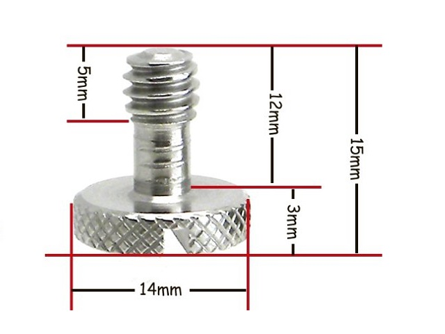 "Desmond Thumb/Coin driven SS 1/4""-20 Screw dimensions"