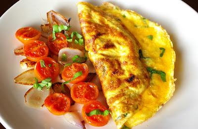 omlet serowy, omlet bazyliowy