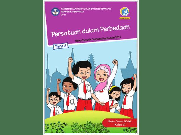 Buku Kelas 6 Tema 2 SD MI Kurikulum 2013 Revisi 2018