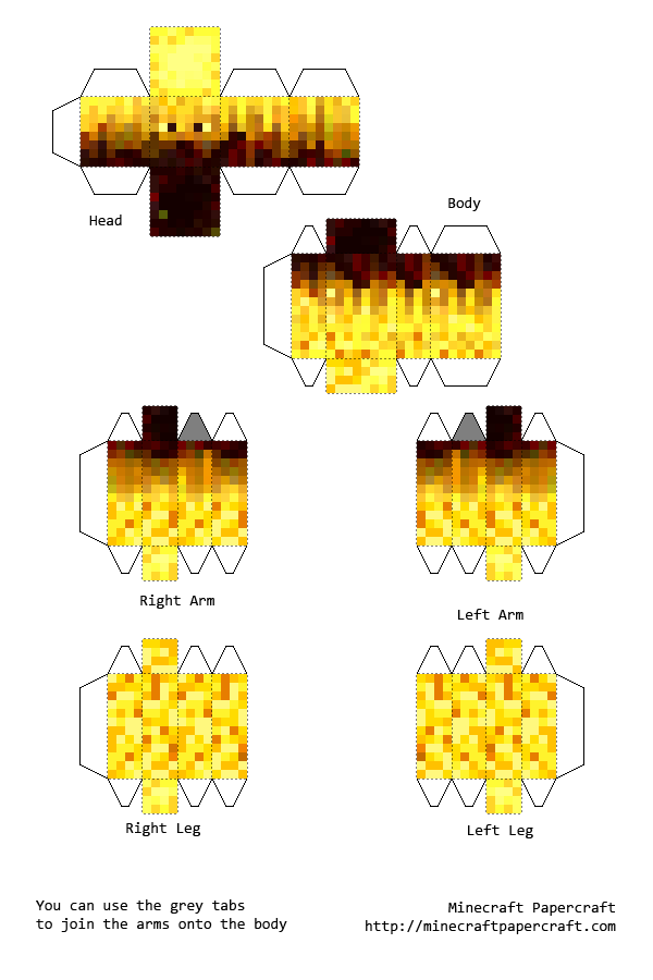 Minecraft Papercraft New Design And New Skins