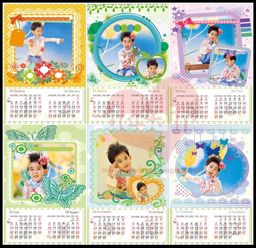 Template Kalender Untuk Anak Anak Format PSD