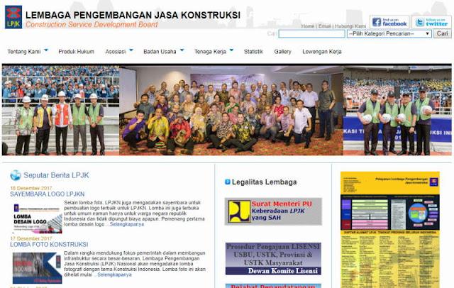 Website LPJK Nasional - Penyelenggara Lomba Foto Konstruksi 2017