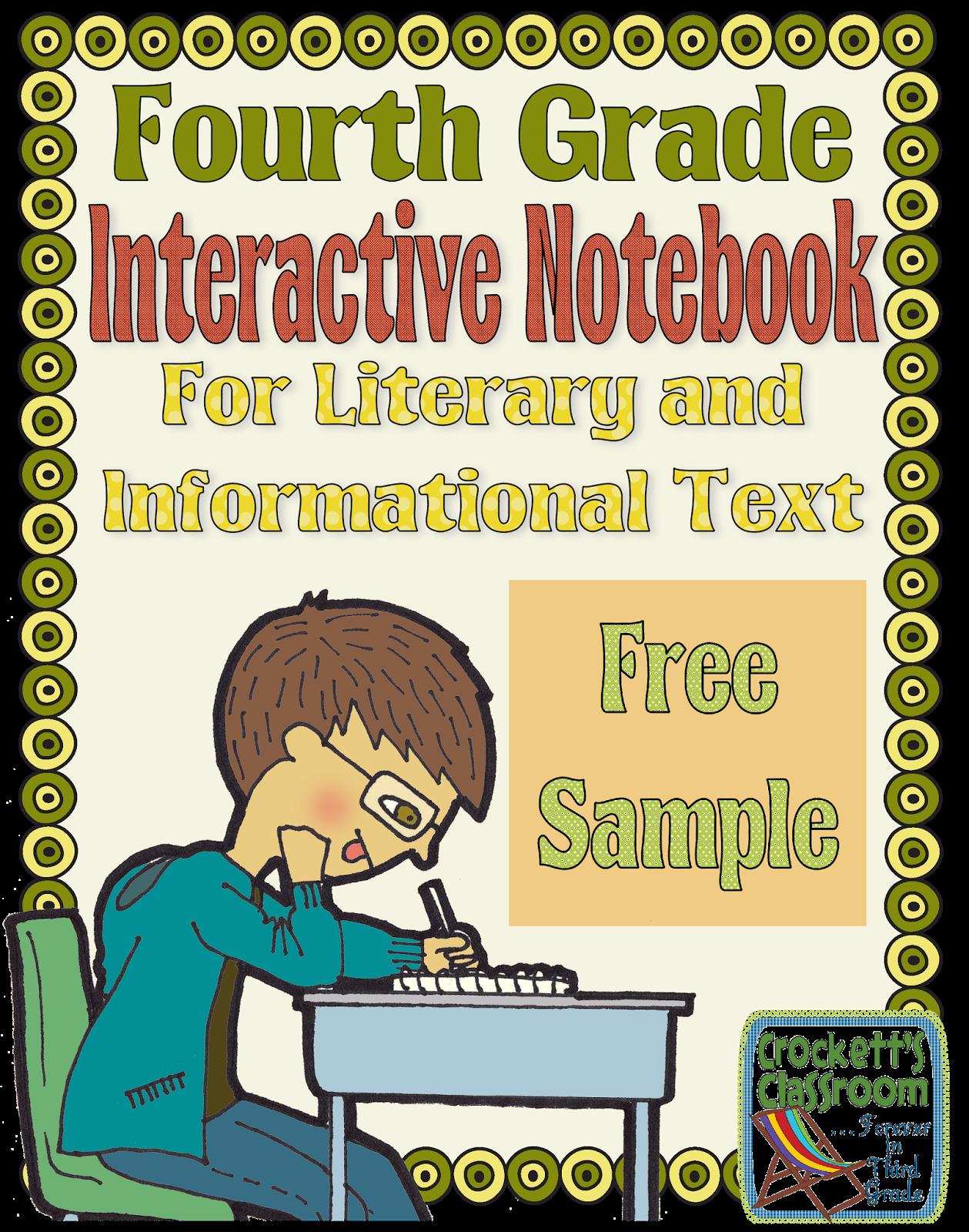 Fourth Grade Interactive Notebook Sample
