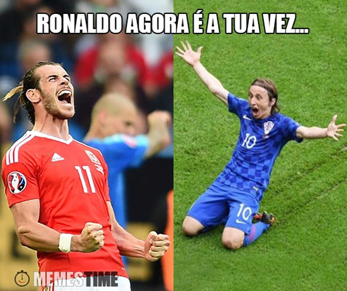Meme Luka Modric e Gareth Bale – Ronaldo agora é a tua vez…