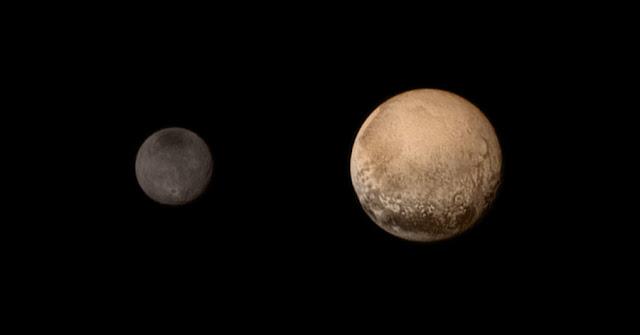 Plutão e Caronte - sistema binário